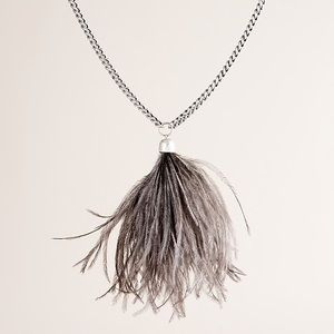 Feather duster J. Crew necklace